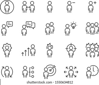 set of people icons, group, team, teamwork, working, company