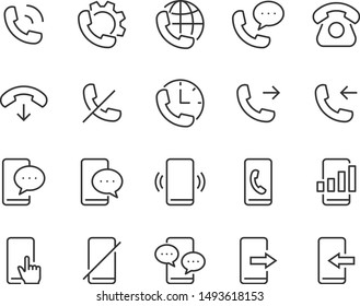 set of phone icons