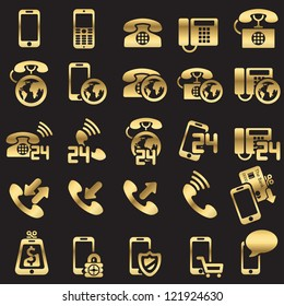 set of phone icons - Silhouettes
