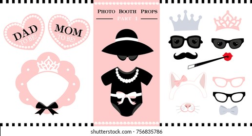 This is a photo of Printable Photo Booth Props Templates within free printable