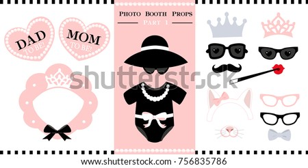 d55ccae9a26 Set Photo Booth Printable Props Bridal Stock Vector (Royalty Free ...