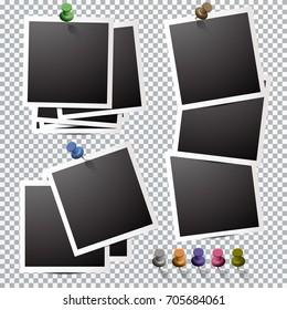 set of photo frames, square. Polaroid frames