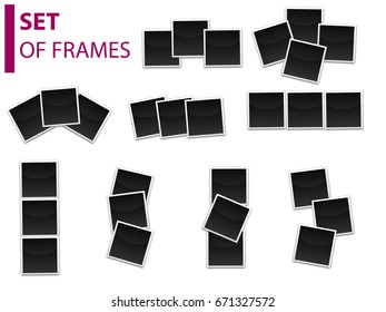 Set of photo frames, templates
