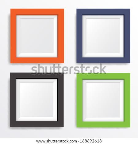 Set Photo Frames Vector 6 Stock Vector (Royalty Free) 168692618 ...