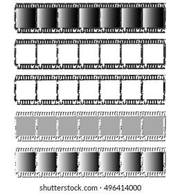 Set of photographic films. Vector illustration