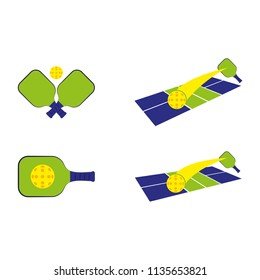 a set of pickleball icons