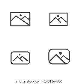 Set of picture file icon line suitable for minimalist graphic design or modern interface design