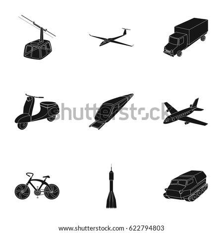 Set Pictures About Types Transport Transportation Stock