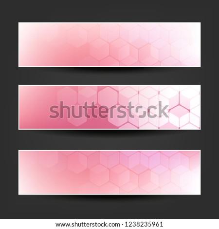 set pink claret purple horizontal banner stock vector royalty free