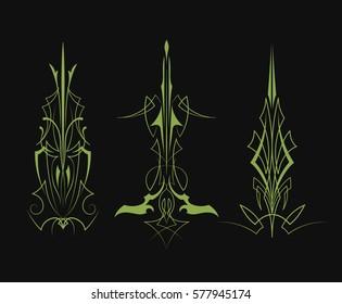 Set of pinstripe vintage design vector illustration