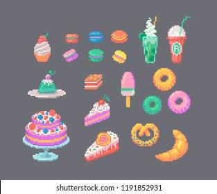 Imágenes Fotos De Stock Y Vectores Sobre Cupcake Pixel
