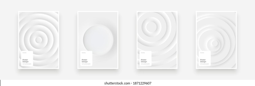 Set Placards, Posters, Flyers, Banner Designs. Abstract background illustration in neomorphism style. Minimal wallpaper, backdrop. Eps10 vector. - Shutterstock ID 1871229607