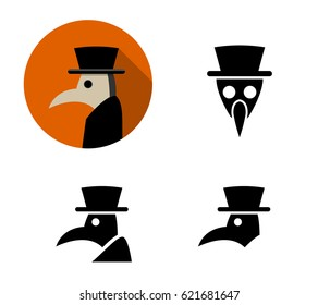 Set of Plague doctor icons, vector design