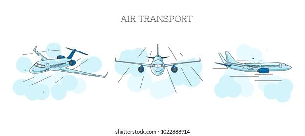 Aeroplane Sketch Images Stock Photos Vectors Shutterstock