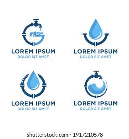 Set of plumbing logo Vector