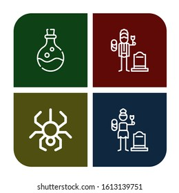 Set of poisonous icons. Such as Poison, Widower, Spider, Widow , poisonous icons