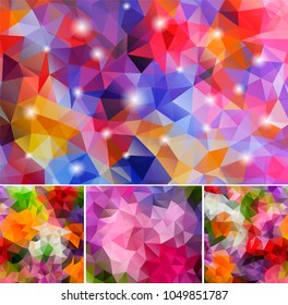 Set Polygonal Backgrounds