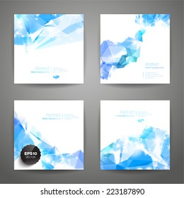 Set of polygonal geometric backgrounds for modern design
