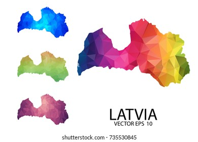 Latvia blank map images stock photos vectors shutterstock set of polygonal map blank on white background latvia map of isolated vector illustration publicscrutiny Gallery