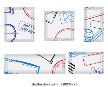 Set of post stamps postage stamps