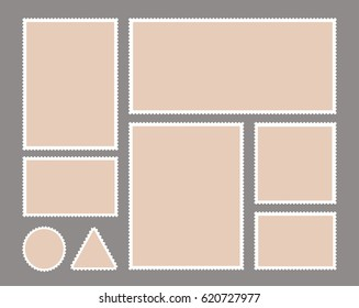 Set of postage stamps templates