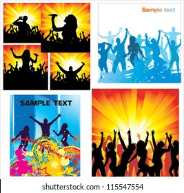 Set Posters of dancing girls and boys