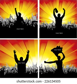 Set posters for sports championships and concerts