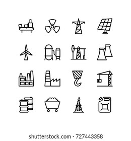 Set of power industry icons