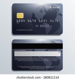 Set of Premium Credit Cards: Vector Illustration