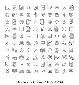 Set of premium leadership icons in line style. High quality outline symbol collection of management. Modern linear pictogram pack of business.