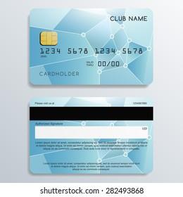 Set of Premium Pastel Cards in Geometrical Pattern : Vector Illustration
