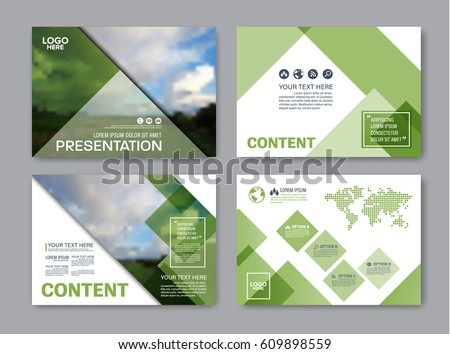 set presentation layout design template powerpoint のベクター画像