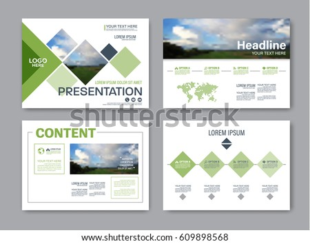 Set Presentation Layout Design Template Powerpoint Image Vectorielle