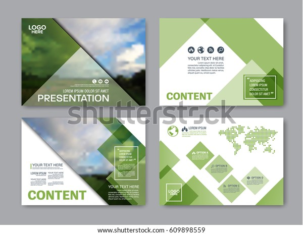 Set Presentation Layout Design Template Powerpoint Royalty