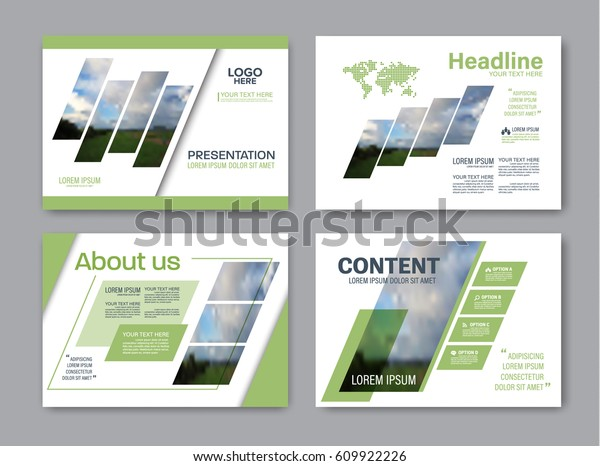 Set Presentation Layout Design Template Powerpoint Stock