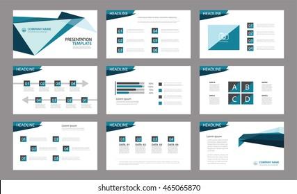 template presentation slides background designinfo graphs stock