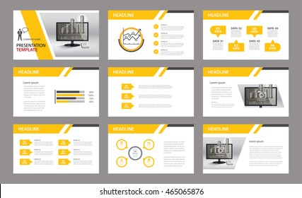 Set of presentation template.Use in annual report, corporate, flyer, marketing