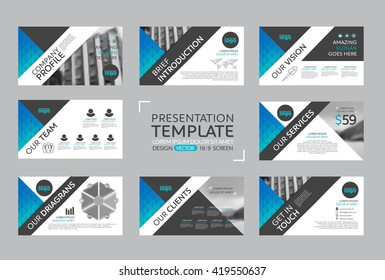 Set of presentation template for brochure flyer marketing and Company Profile