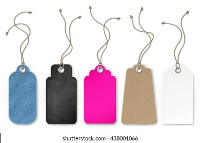 Set of price and sale tags for store, vector illustration