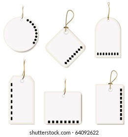 Set with price tags