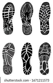 set prints of shoes vector illustration