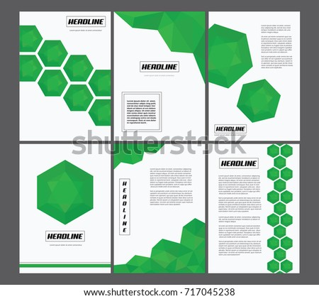 Geometric A4 Page Design Background Vectors Newsletter Templates