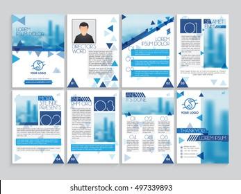 brochure creative design multipurpose template cover のベクター画像