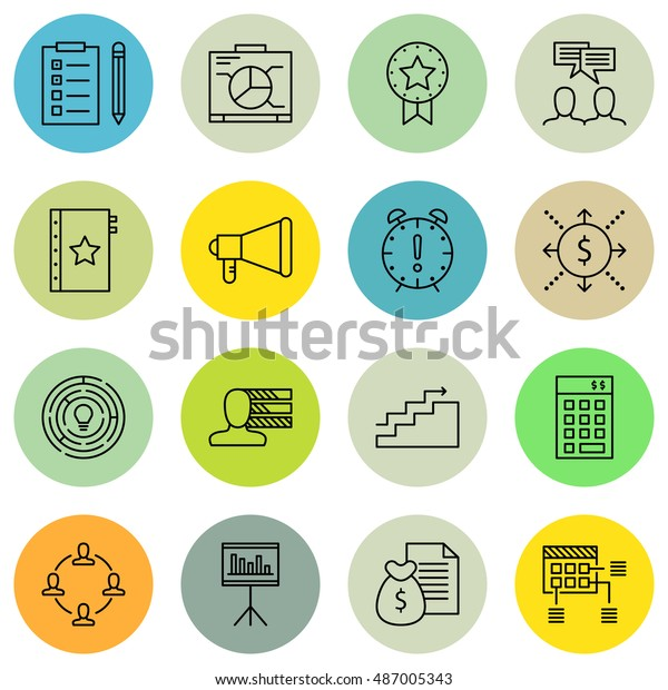 Set Of Project Management Icons On Award, Cash Flow, Investment And More. Premium Quality EPS10 Vector Illustration For Mobile, App, UI Design.