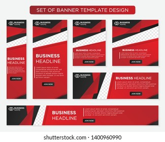 set of promotion kit banner template design with modern and simple concept user for web page, ads, annual report, banner, background, backdrop, flyer, brochure, card, poster, presentation layout