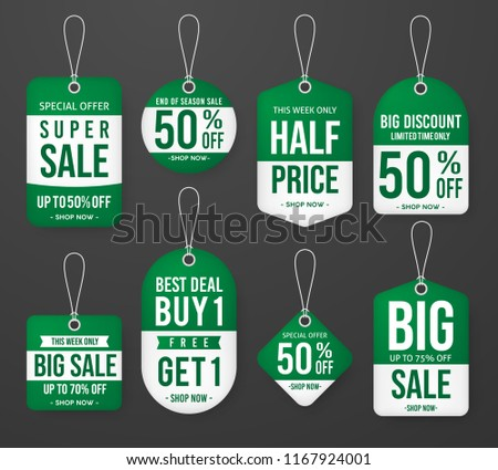set promotion price tag label template stock vector royalty free