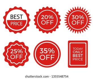 Set of Promotional Vector Labels