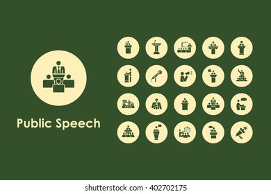 Set of public speech simple icons