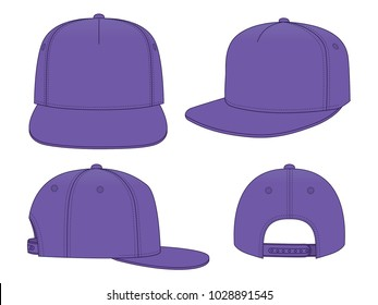 Set Purple Classic Hip Hop cap  & snap back