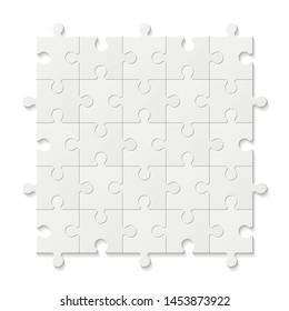 Set puzzle pieces. Texture mosaic background.